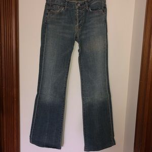 "7 For All Mankind ""Boy Cut"" Jeans"